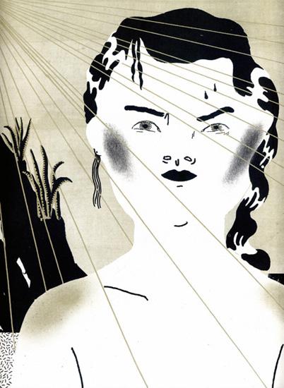 """Illustrazione di Anna Deflorian per il racconto """"Senza voce"""" di Alessandra Sarchi"""