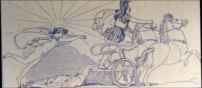 """John Flaxman, """"Achille trascina il corpo di Ettore"""", 1793 ca."""