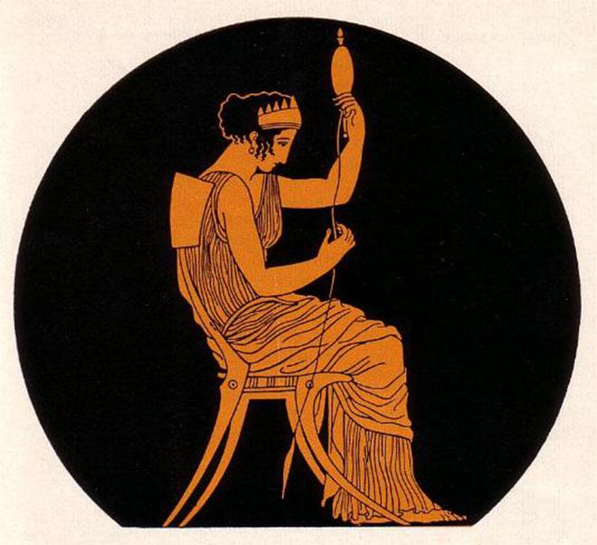 Immagine di Penelope da ceramica attica a figure rosse