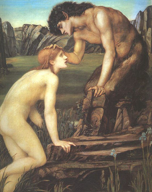 "Edward Burne Jones, ""Pan e Pische"", 1874 ca., da collezione privata"