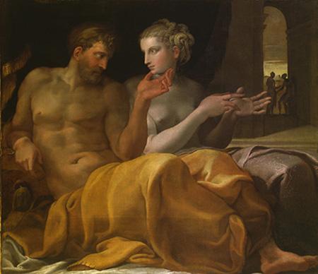 "Francesco Primaticcio, ""Penelope e Ulisse"", 1560 ca. Toledo, Museum of Art"