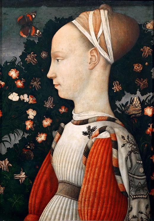 """Pisanello, """"Ritratto di principessa estense"""", 1435-1449, Louvre, Paris"""