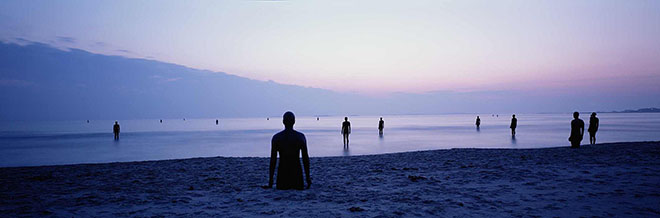 "Anthony Gormley, ""Another place"", Crosby Beach UK, 1997"