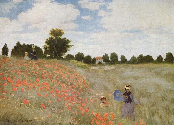 """Claude Monet, """"Les coquelicots"""", 1873, Paris, Louvre"""