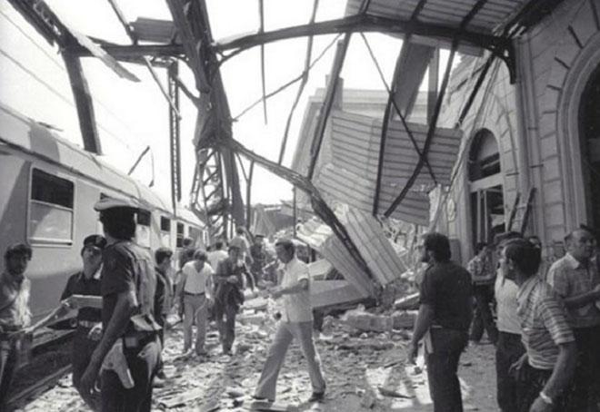 Immagine della strage di Bologna del 2 agosto 1980