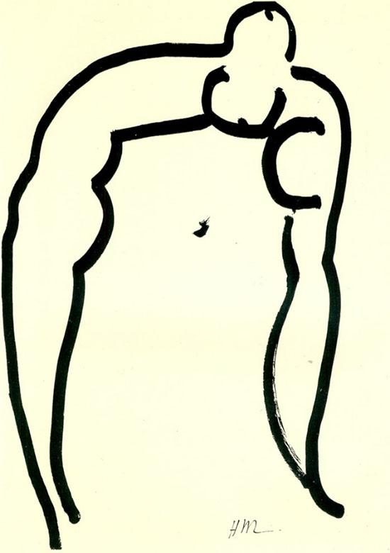 L'Acrobata-1952-pennello-e-inchiostro-su-carta-