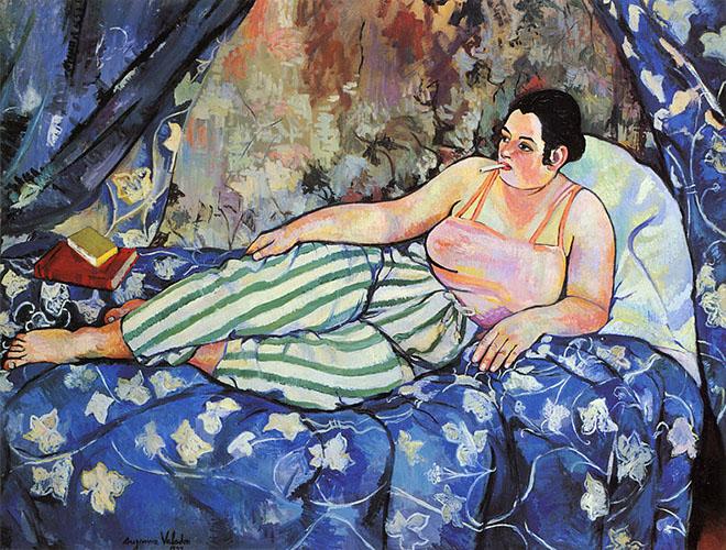 """Suzanne Valadon, """"La chambre bleue"""", Paris, Centre G. Pompidou"""