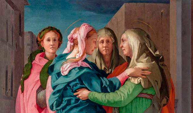 """Pontormo, """"La visitazione"""", Pieve di Carmignano, 1528, dettaglio"""