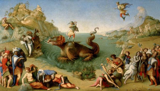 """Piero di Cosimo, """"Perseo libera Andromeda"""", 1510, Firenze, Galleria degli Uffizi"""