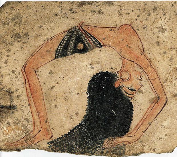 Ostrakon della danzatrice, Nuovo Regno, XIX dinastia, 1292-1186, Museo Egizio di Torino