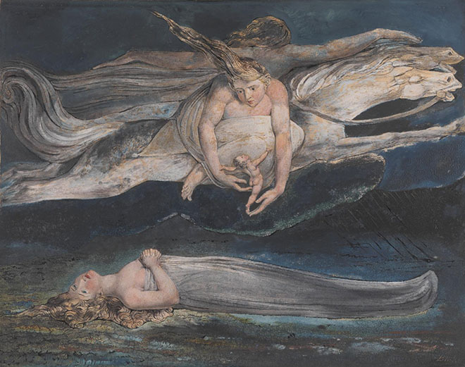 "William Blake, ""Pity"", 1795, London, Tate Gallery"