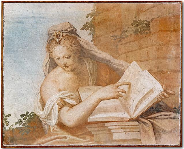 """G.B. Zelotti, """"Allegoria del'Architettura"""", Villa Emo a Fanzolo, 1565"""